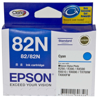 Picture of Epson 82N Cyan Ink Cartridge