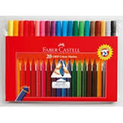 Picture of COLOUR MARKERS SET 20 FABER CASTELL