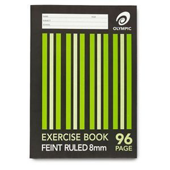 Picture of EXERCISE BOOK OLYMPIC 225X175MM 8MM RULED 96PG